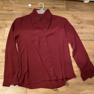 Forever 21 maroon blouse